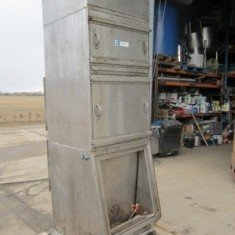 D.C.E. / Torrit stainless steel dust unit with sack tipping station.