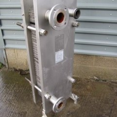 GEA Dairy stainlees steel plate heat exchanger.
