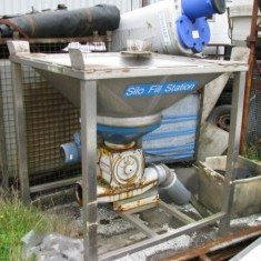 Stainless steel one ton big bag hopper.