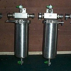 Pall stainless steel candle filters.